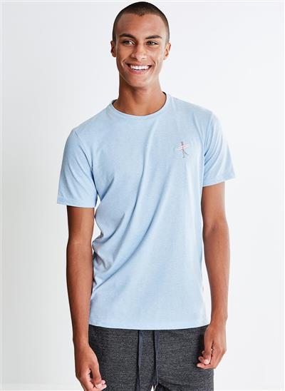 Camiseta com Bordado Caveira Surf