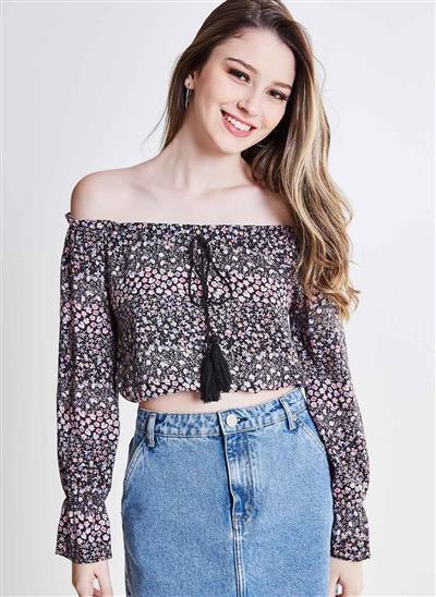 50f57408f Blusa Ciganinha Floral - Moda Feminina e Masculina: Roupas, Calçados ...