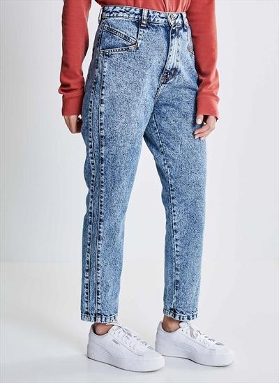 0467b6945 Calça Jeans Mom Marmorizada - Moda Feminina e Masculina: Roupas ...