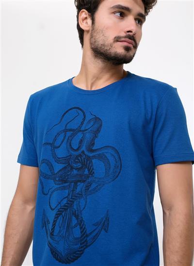 dde0dc8377 Camiseta Azul Âncora e Polvo - Moda Feminina e Masculina  Roupas ...