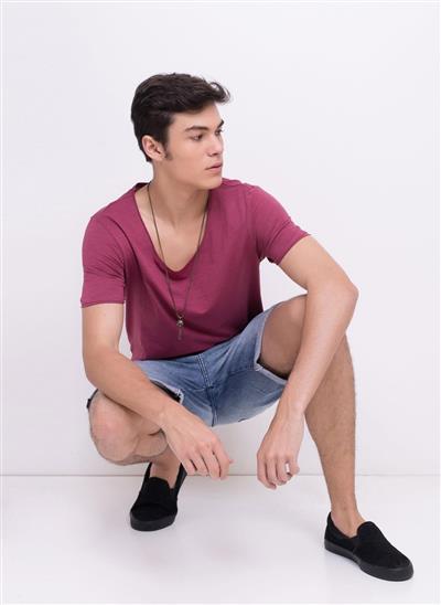 dfadab4496 Camiseta Flame Corte A Fio Gola U Solo - Mescla - Moda Feminina e ...