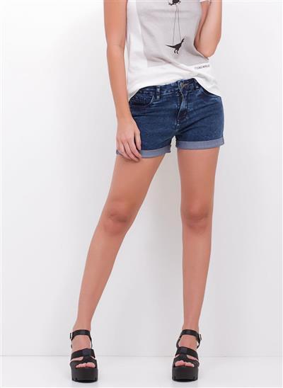 5602d2baf Short Hot Pants Barra Dobrada em Jeans - Moda Feminina e Masculina ...