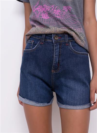 fbcbda300 Short Barra Dobrada em Jeans - Moda Feminina e Masculina  Roupas ...