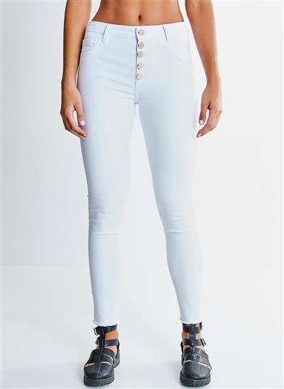 3d57e842ca Calça Skinny com Botões - Moda Feminina e Masculina  Roupas ...