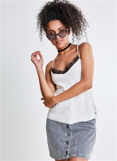 cacef90284 Regata com Renda - Moda Feminina e Masculina  Roupas
