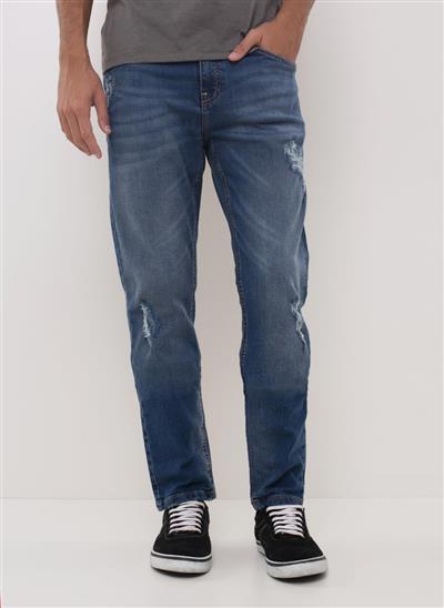 455180d0af7 Calça Slim em Jeans Recycle - Moda Feminina e Masculina  Roupas ...