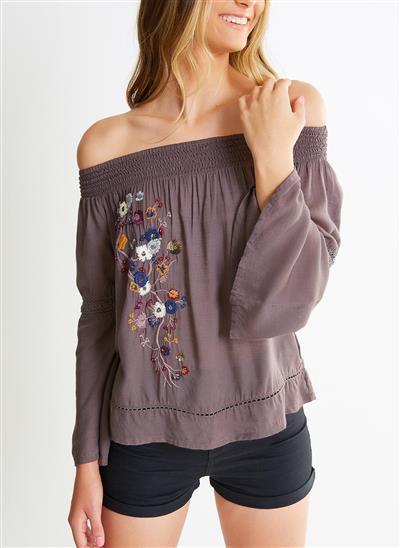 03fc5d30b Blusa Ciganinha com Bordado Floral