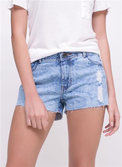 ff3e0deda Short em Jeans com Barra Desfiada - Moda Feminina e Masculina ...