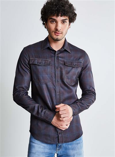 14465a44be Camisa Jeans Xadrez - Moda Feminina e Masculina  Roupas