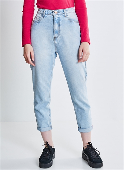 2f3fad95d4820c Calça Jeans Mom Básica