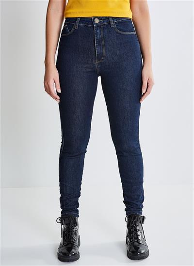 6cb0036a95 Calça Skinny em Jeans Amaciado - Moda Feminina e Masculina  Roupas ...