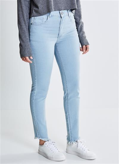 ae34af61b Calça Skinny em Jeans Delavê - Moda Feminina e Masculina: Roupas ...