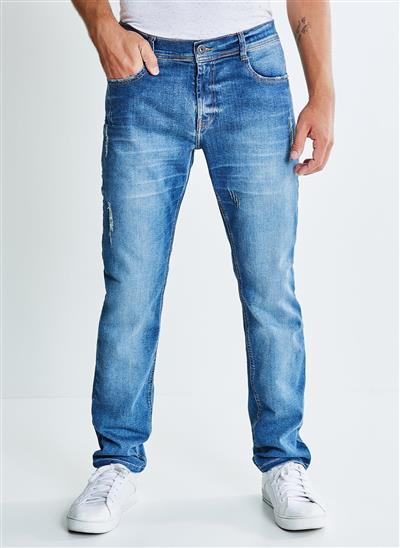c2b081d506 Calça Jeans com Puídos - Moda Feminina e Masculina  Roupas