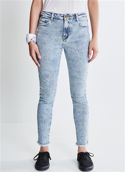 ee03e29def Calça Skinny em Jeans Marmorizado - Moda Feminina e Masculina ...