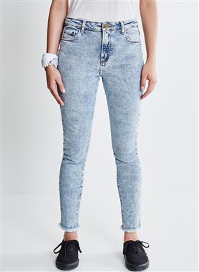 e5f72dac1 Calça Skinny em Jeans Marmorizado. Cor JEANS MARMORIZADO